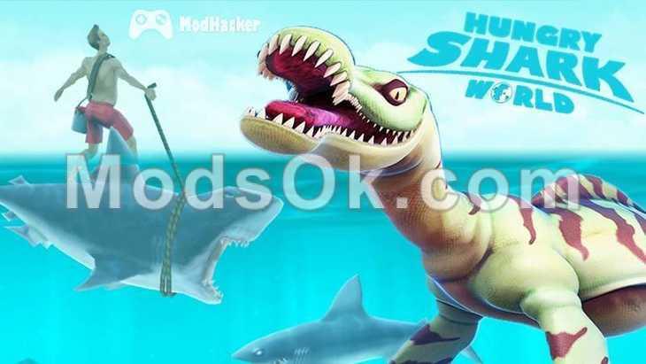 download game hungry shark world mod apk+data