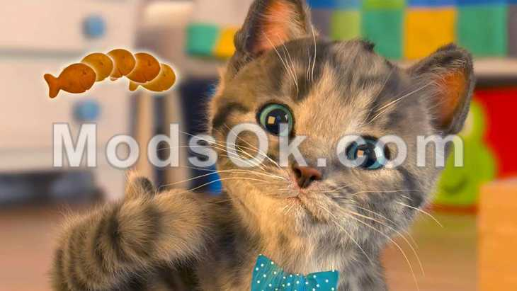 Simulator Kitten hack for money and crystals for Android